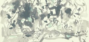 山喜多二郎太「田を耕す」昭和35年(1960) 紙本墨画淡彩 79.2×100.0cm